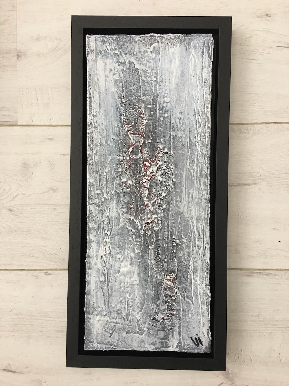Vi Arnolli Art Abstract Painting Cracked Concrete